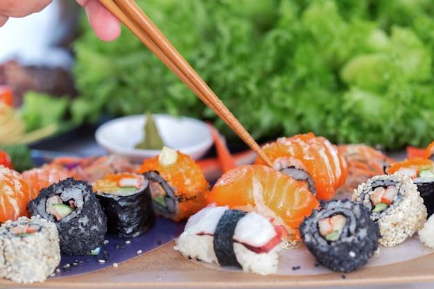Comida de sushi japonesa
