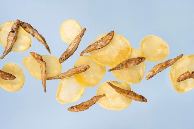 Comida deliciosa de peixe com batatas fritas da inglaterra