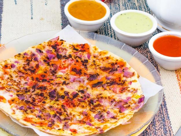 Comida do sul da índia uttapam