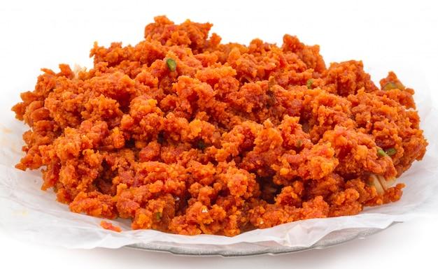 Comida doce indiana cenoura halwa