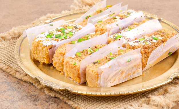 Comida doce indiana gulab halwa