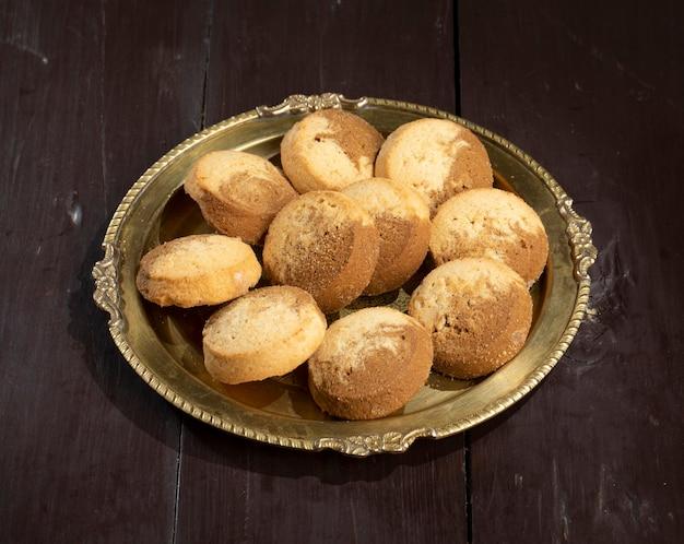 Comida doce indiana nankhatai ou biscoitos