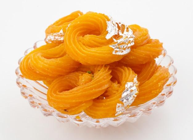 Comida doce indiana paneer jalebi