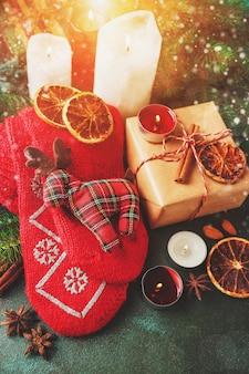 Comida e decoração de natal