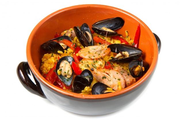 Comida espanhola de paella
