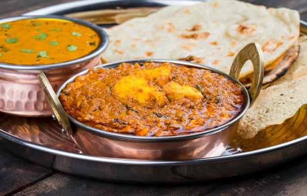 Comida indiana kadai paneer