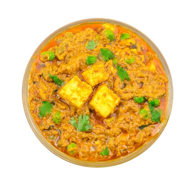 Comida indiana mattar paneer