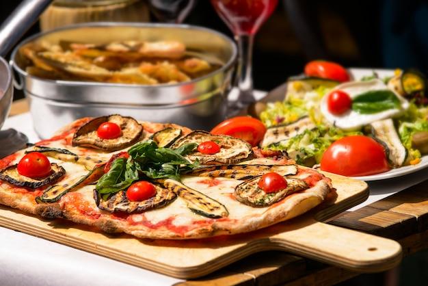 Comida italiana saborosa e famosa