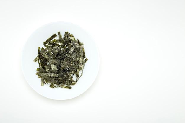 Comida japonesa nori algas secas