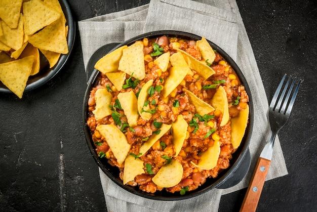 Comida mexicana, chili com carne