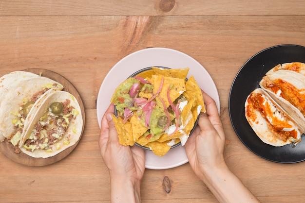 Comida mexicana tira eco amigável