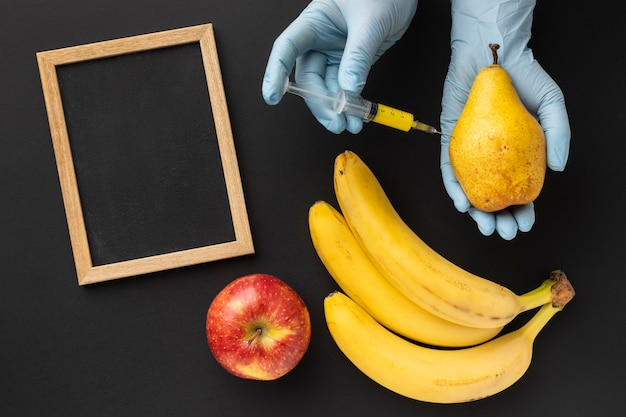 Comida modificada com bananas deliciosas