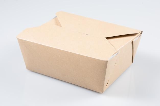 Comida para viagem caixa em branco