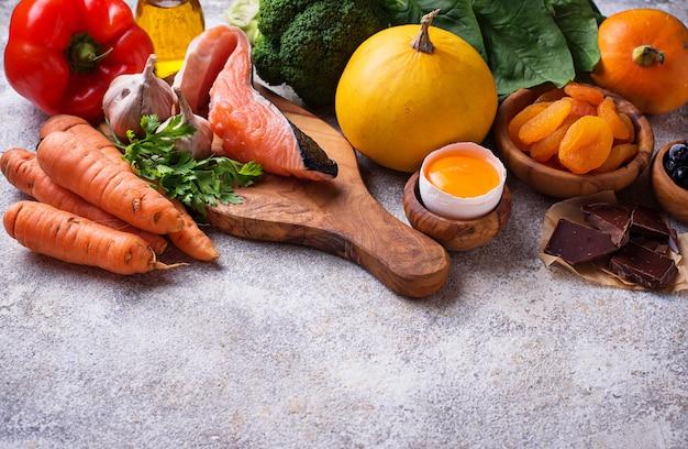 Comida saudável boa para a visão