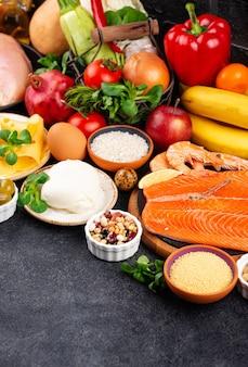 Comida saudável e balanceada