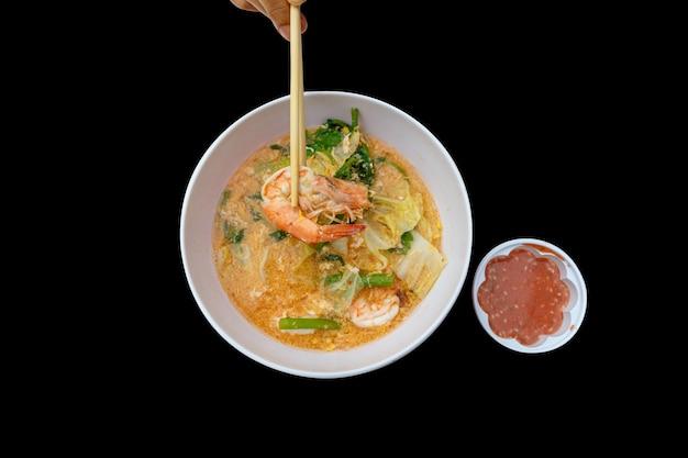 Comida tailandesa, misture suki na tigela