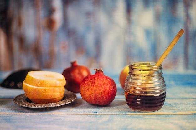 Comida tradicional judaica e elementos