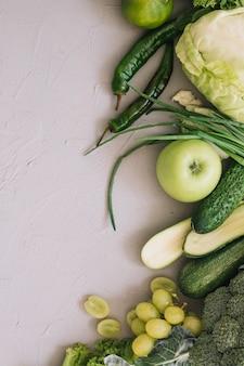 Comida verde saudável