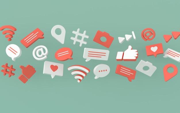 Como bate-papo comentário bolha câmera hashtag símbolo de rede sem fio wi-fi nos ícones de jogo