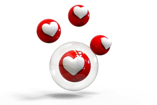Como bolhas de reações de amor