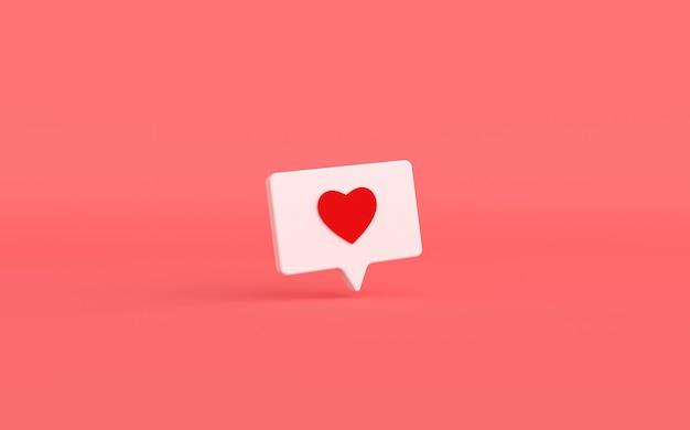 Como o ícone de um coração em fundo rosa