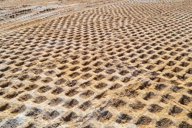 Compactação do solo no canteiro de obras, compactação do solo antes da construção