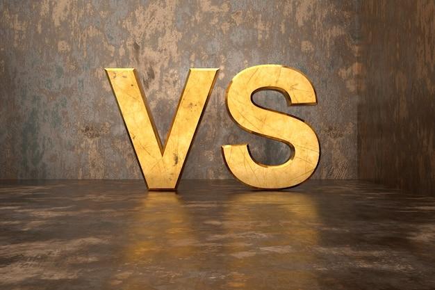 Comparação do design de exibição do produto com texto em renderização 3d