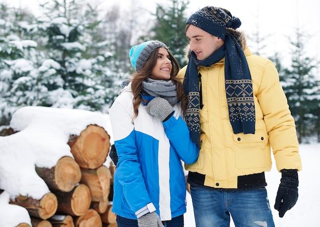 Compartilhando com amor no inverno