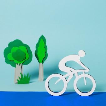 Competição de ciclismo em papel