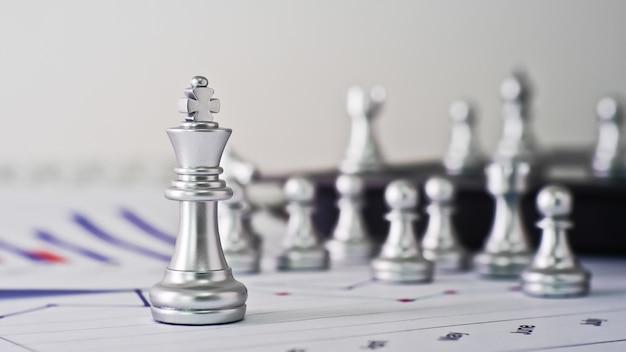Competição de negócios presente pelo xadrez