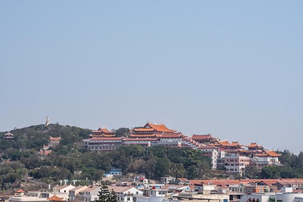 Complexo arquitetônico do templo mazu na ilha meizhou, china