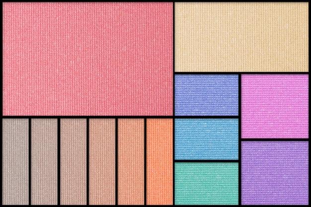 Compõem a paleta de sombras coloridas