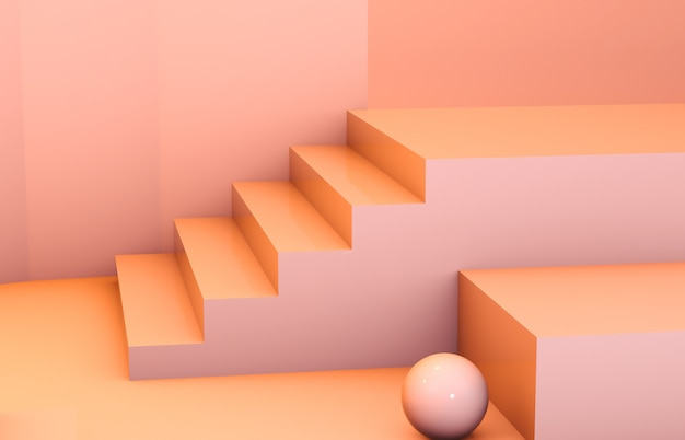 Composição 3d abstrata. pódio de beleza de moda