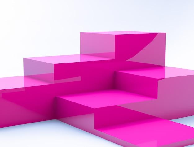 Composição 3d abstrata.