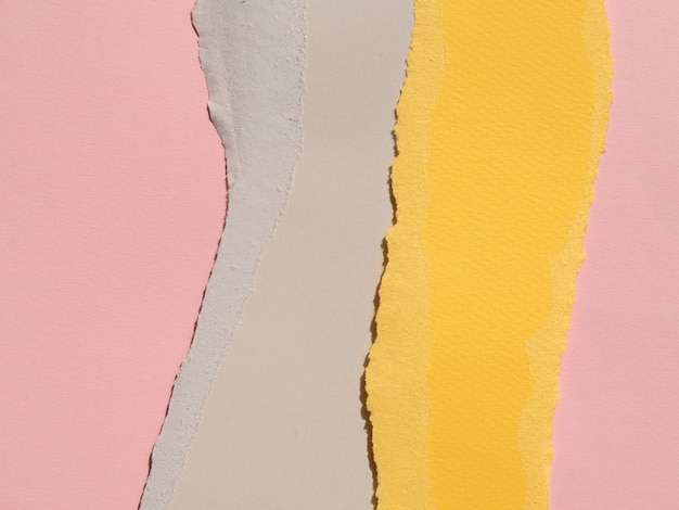 Composição abstrata de close-up com papéis coloridos