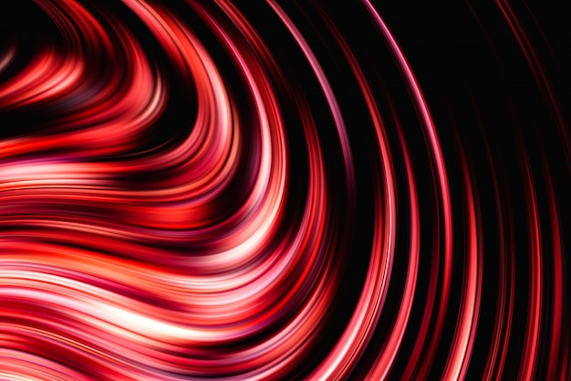 Composição abstrata de vermelha e preta