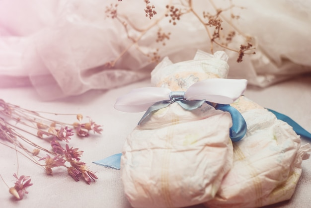 Composição abstrata para recém nascido