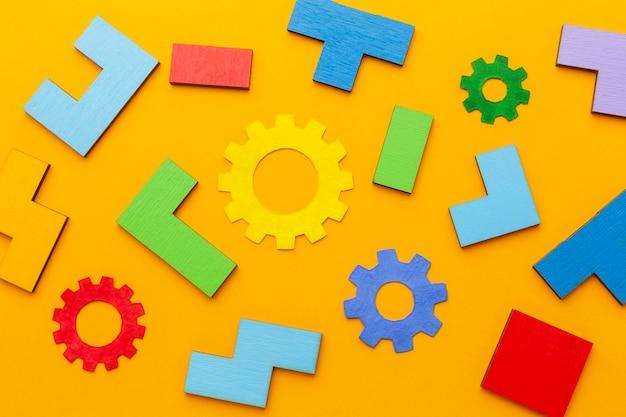 Composição abstrata plana lay com elementos de inovação