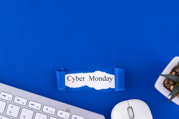 Composição cibernética de segunda-feira plana