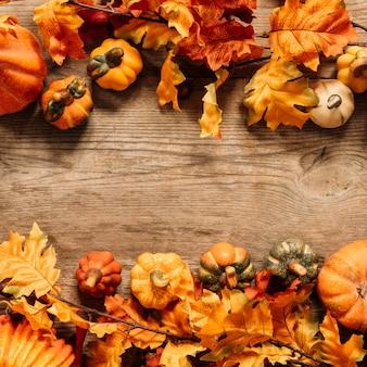 Composição colorida do outono