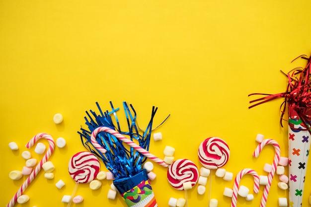 Composição colorida para aniversários