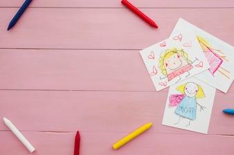 Composição com copyspace para o dia das mães