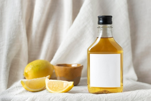 Composição com deliciosa bebida de mezcal