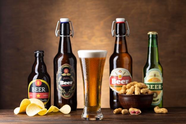 Composição com deliciosa cerveja americana