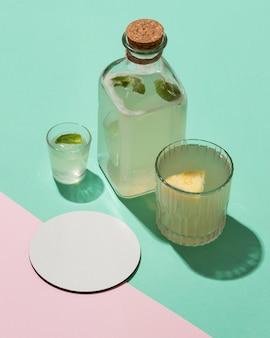 Composição com deliciosas bebidas fermentadas
