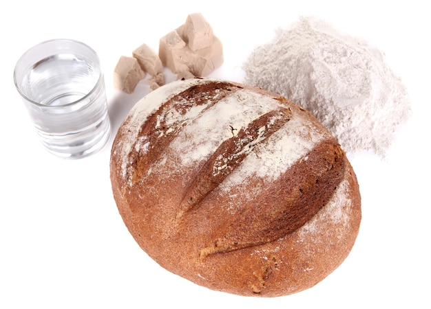 Composição com pão de centeio em branco