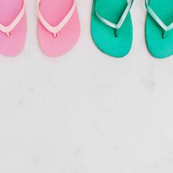 Composição, com, verão, flip-flops