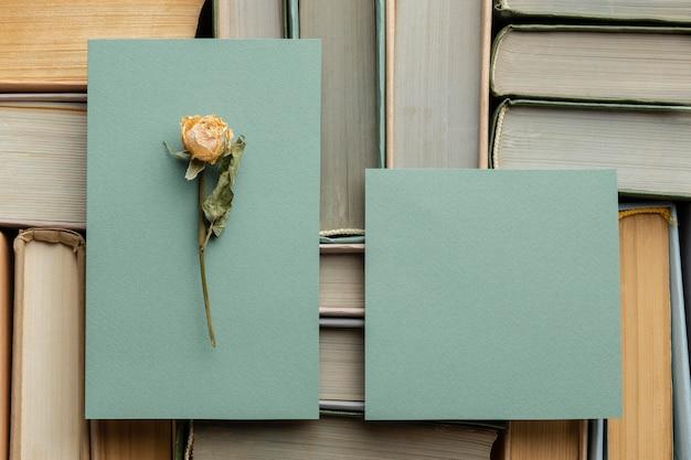 Composição criativa com diferentes livros