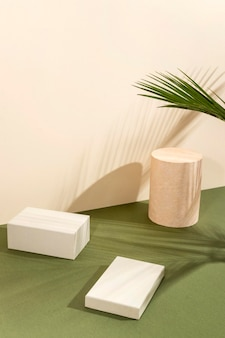 Composição criativa de palco minimalista