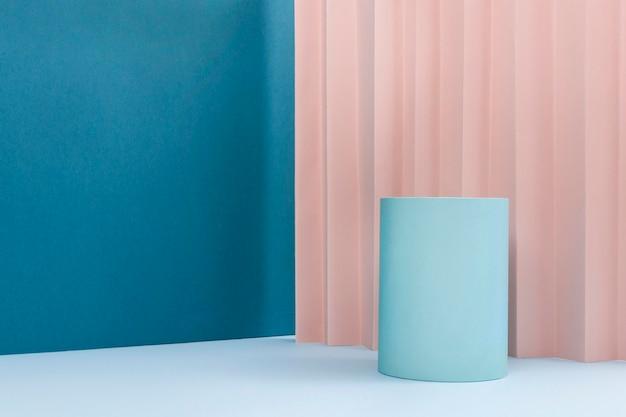 Composição criativa de pódio minimalista